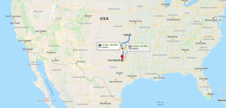 Wo liegt Fort Worth? Wo ist Fort Worth? in welchem land liegt Fort Worth
