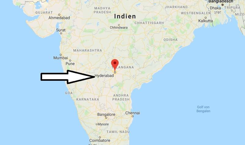 Wo liegt Hyderabad? Wo ist Hyderabad? in welchem land liegt Hyderabad