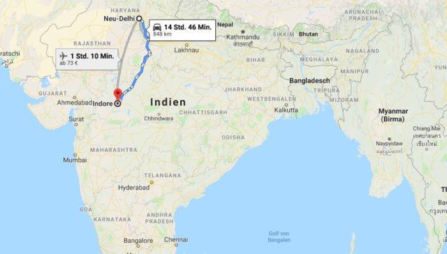 Wo liegt Indore? Wo ist Indore? in welchem land liegt Indore