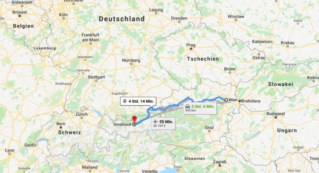 Wo liegt Innsbruck? Wo ist Innsbruck? in welchem land liegt Innsbruck