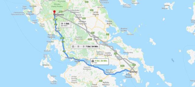 Wo liegt Ioannina? Wo ist Ioannina? in welchem land liegt Ioannina