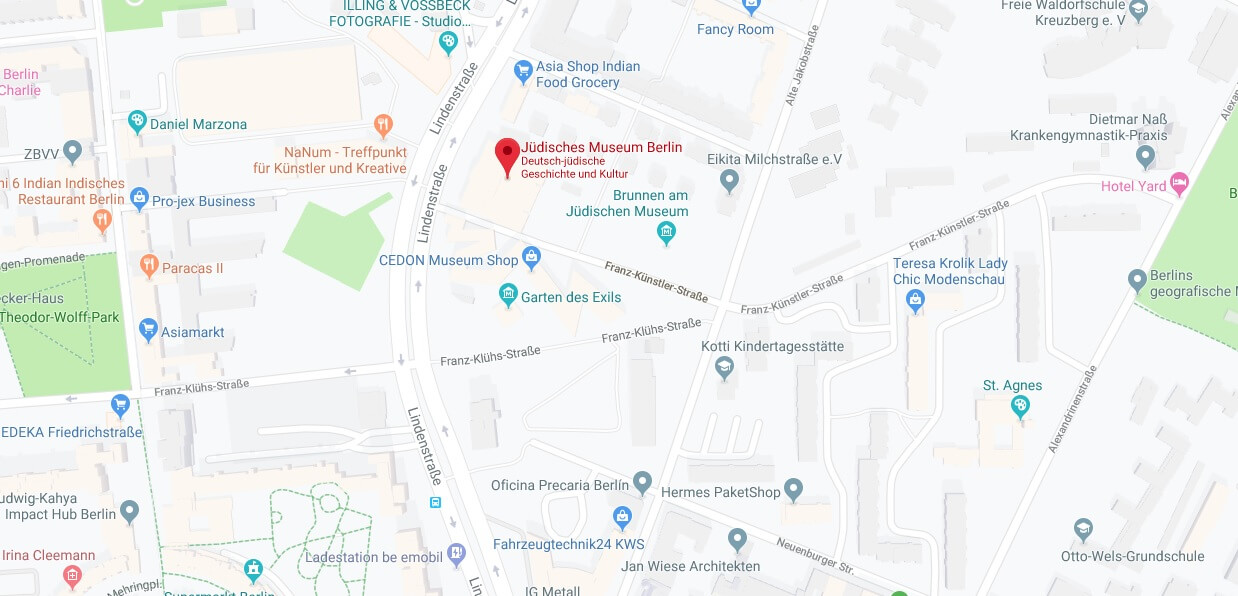 Wo liegt Jüdisches Museum Berlin? Wo ist Jüdisches Museum Berlin