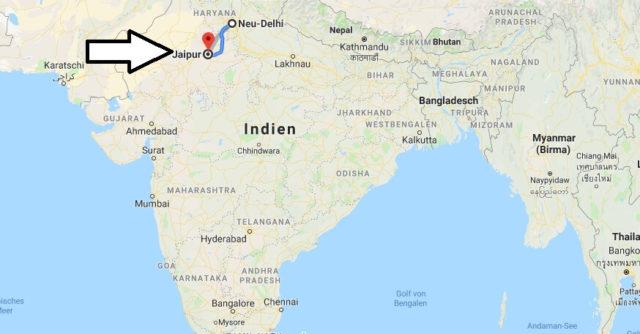 Wo liegt Jaipur? Wo ist Jaipur? in welchem land liegt Jaipur