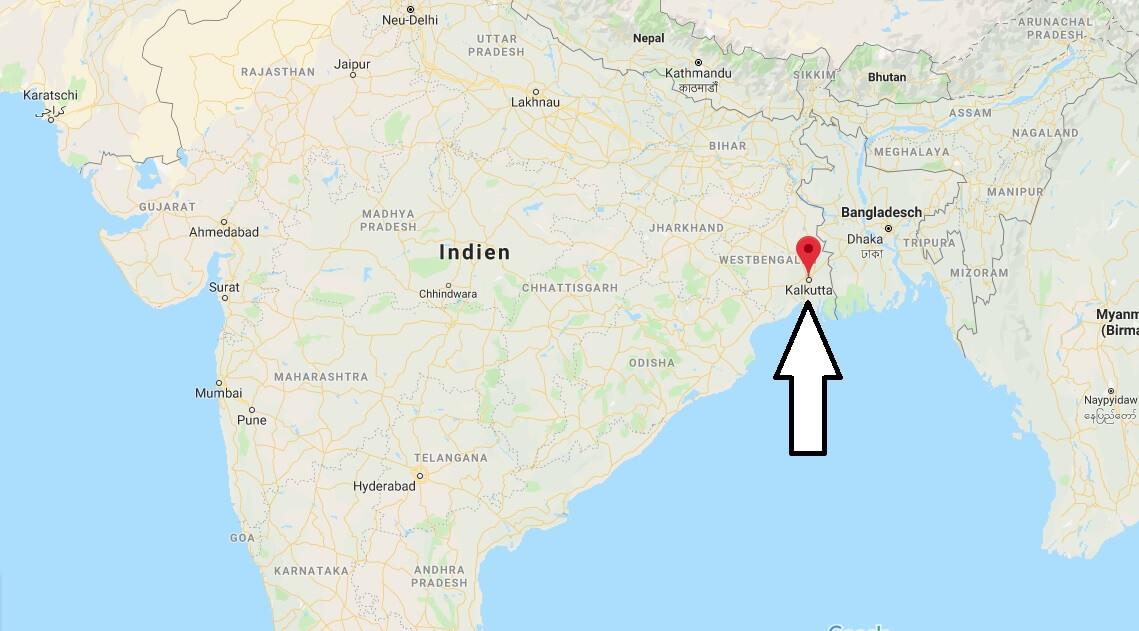 Wo liegt Kalkutta? Wo ist Kalkutta? in welchem land liegt Kalkutta