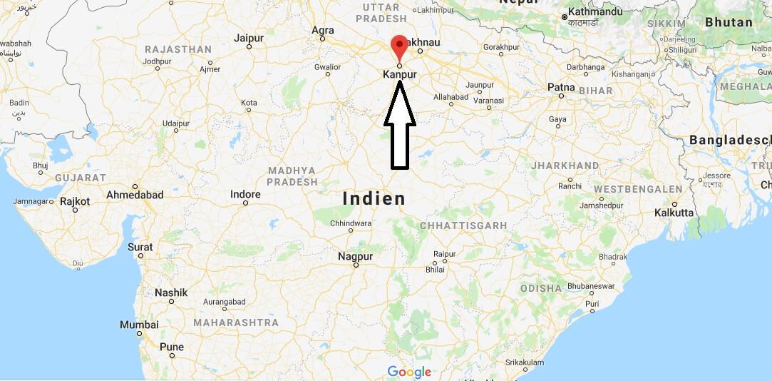 Wo liegt Kanpur? Wo ist Kanpur? in welchem land liegt Kanpur