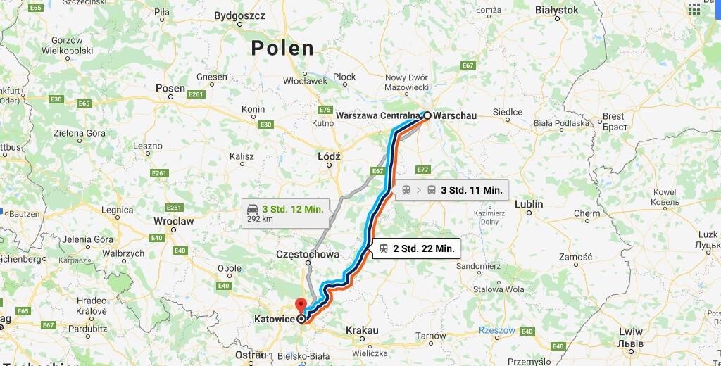 Wo liegt Katowice? Wo ist Katowice? in welchem land liegt Katowice