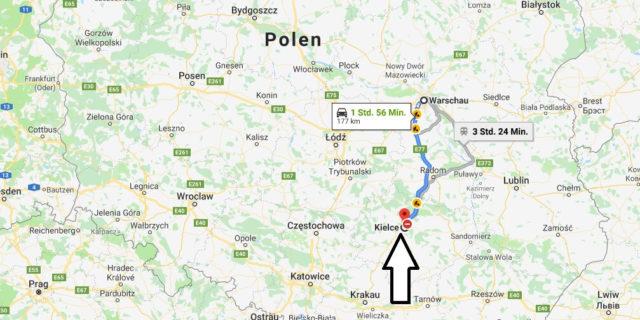 Wo liegt Kielce? Wo ist Kielce? in welchem land liegt Kielce