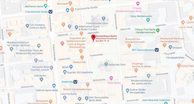 Wo liegt Konzerthaus Berlin? Wo ist Konzerthaus Berlin