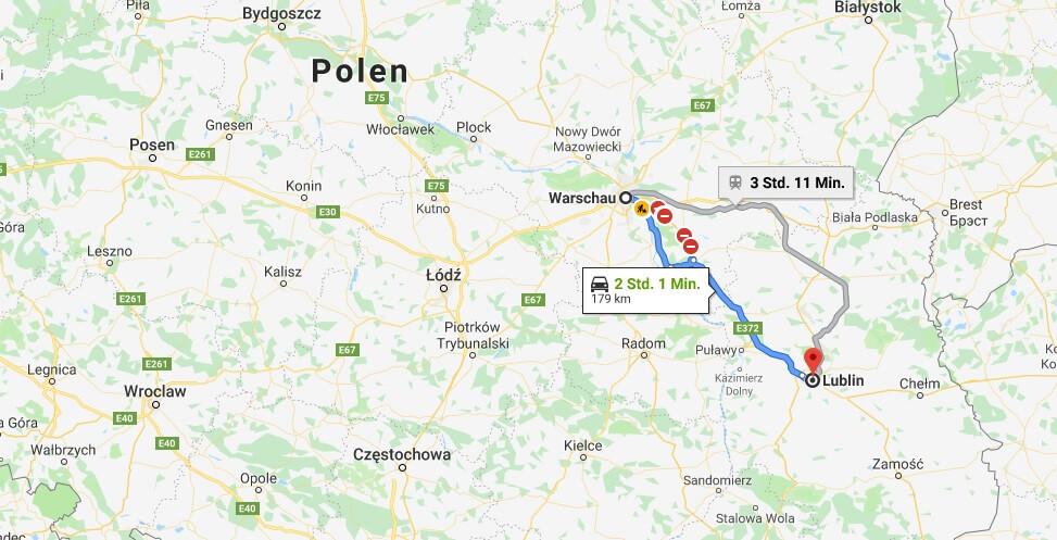 Wo liegt Lublin? Wo ist Lublin? in welchem land liegt Lublin