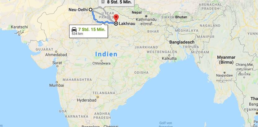 Wo liegt Lucknow? Wo ist Lucknow? in welchem land liegt Lucknow