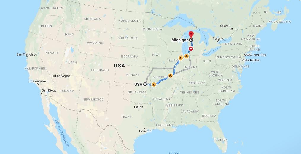 Wo liegt Michigan? Wo ist Michigan? in welchem land liegt Michigan