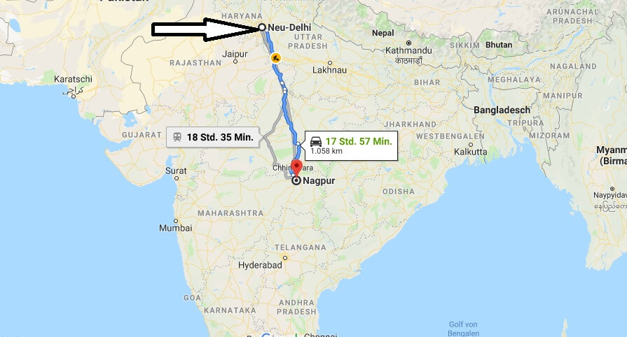 Wo liegt Nagpur? Wo ist Nagpur? in welchem land liegt Nagpur