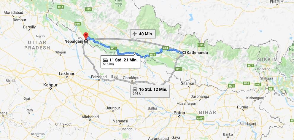 Wo liegt Nepalgunj? Wo ist Nepalgunj? in welchem land liegt Nepalgunj