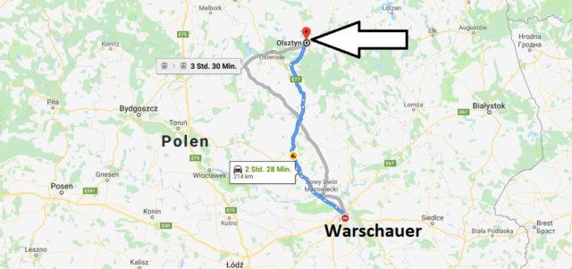 Wo liegt Olsztyn? Wo ist Olsztyn? in welchem land liegt Olsztyn