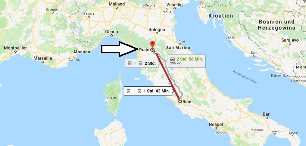 Wo liegt Prato? Wo ist Prato? in welchem land liegt Prato