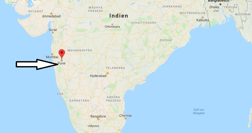 Wo liegt Pune? Wo ist Pune? in welchem land liegt Pune