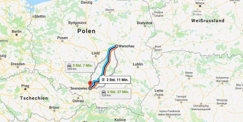 Wo liegt Sosnowiec? Wo ist Sosnowiec? in welchem land liegt Sosnowiec