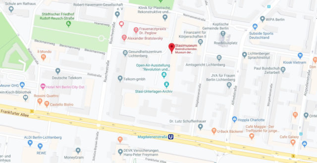 Wo liegt Stasi Museum? Wo ist der Stasi Museum
