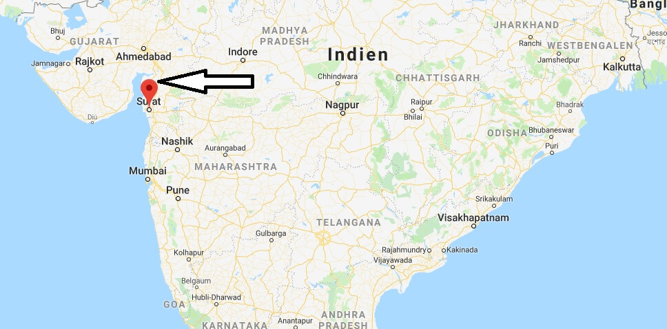 Wo liegt Surat? Wo ist Surat? in welchem land liegt Surat