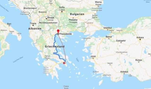 Wo liegt Thessaloniki? Wo ist Thessaloniki? in welchem land liegt Thessaloniki