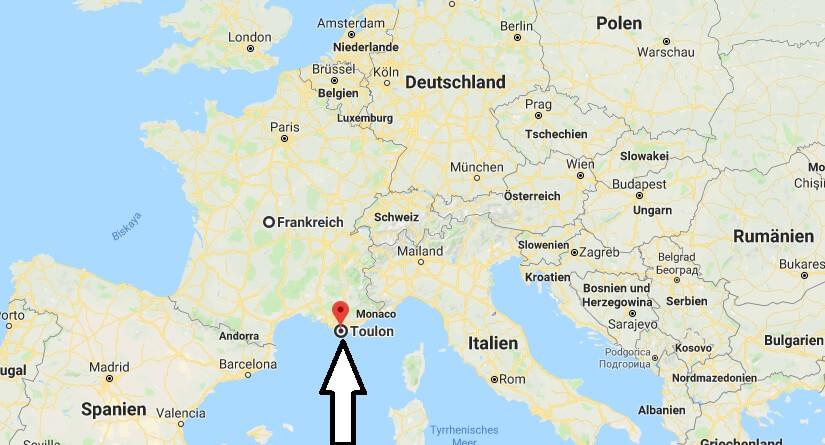 Wo liegt Toulon? Wo ist Toulon? in welchem land liegt Toulon