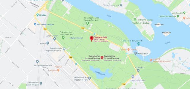 Wo liegt Treptower Park? Wo ist Treptower Park