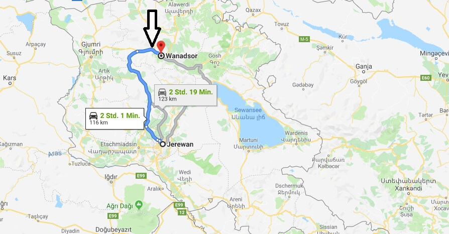 Wo liegt Vanadzor? Wo ist Vanadzor? in welchem land liegt Gyumri