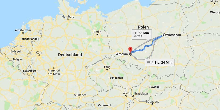 Wo liegt Wroclaw? Wo ist Wroclaw? in welchem land liegt Wroclaw