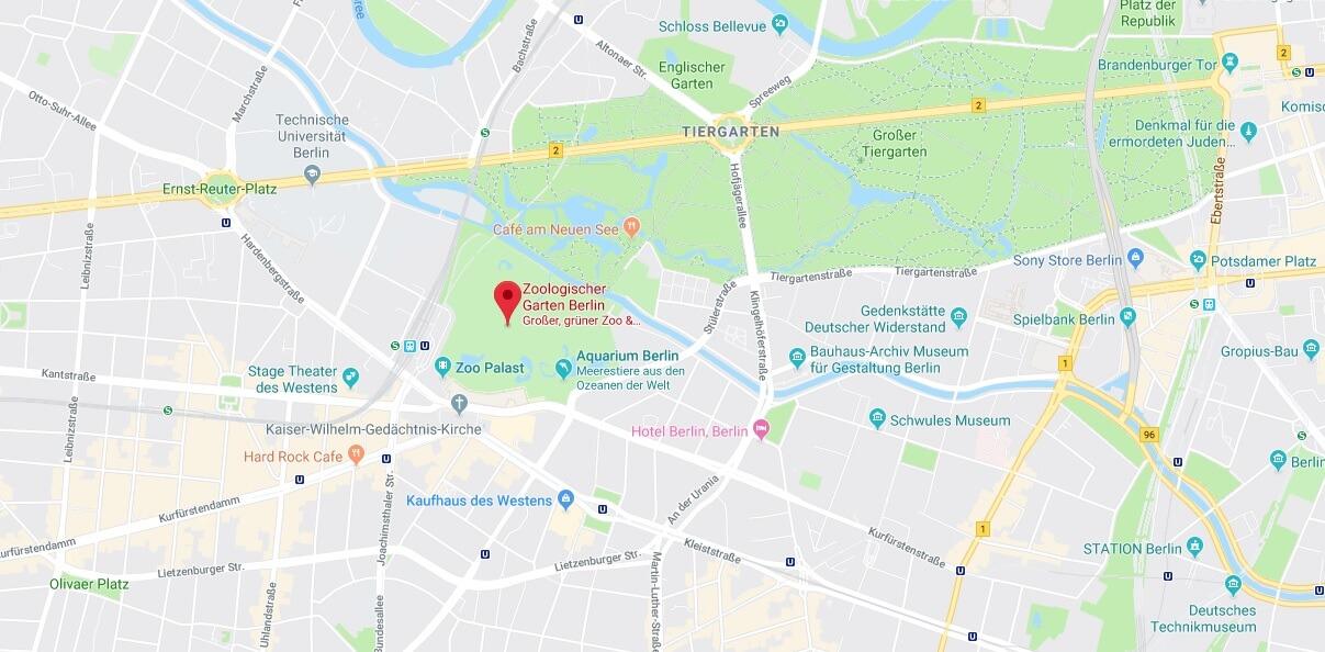 Wo liegt Zoologischer Garten Berlin? Wo ist Zoologischer Garten Berlin