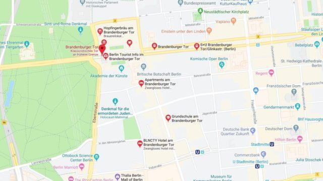 Wo liegt das Brandenburger Tor? Wo ist das Brandenburger Tor
