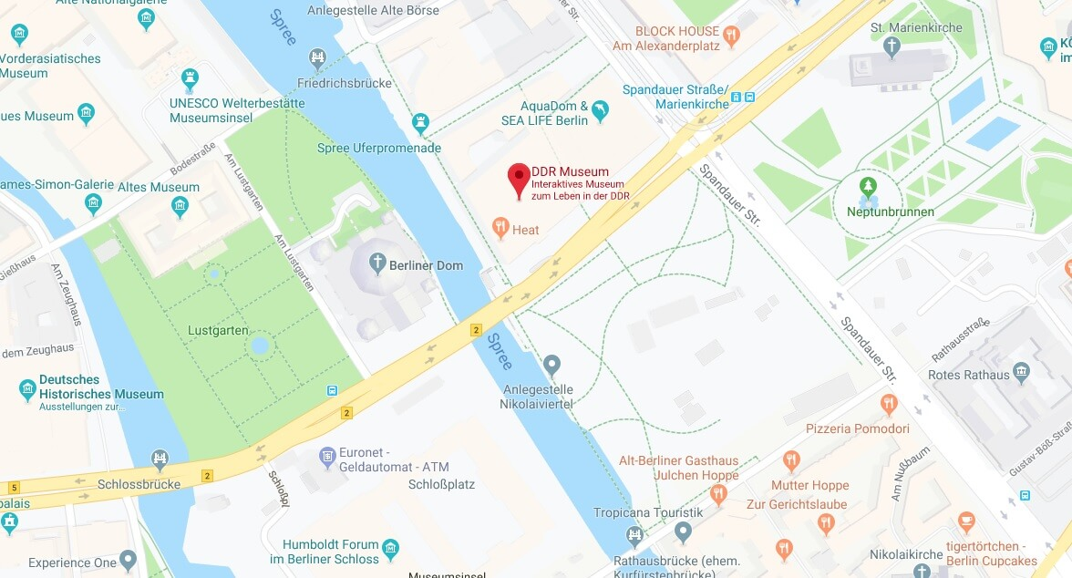 Wo liegt das DDR Museum? Wo ist das DDR Museum
