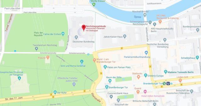 Wo liegt das Reichstagsgebäude? Wo ist Reichstagsgebäude