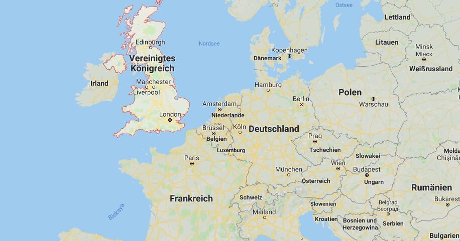 Wo liegt das Vereinigten Königreich? Wo ist das Vereinigten Königreich? in welchem land liegt Vereinigten Königreich