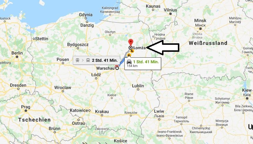 Wo liegt Łomża? Wo ist Łomża? in welchem land liegt Łomża