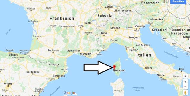 Wo liegt Ajaccio? Wo ist Ajaccio? in welchem land liegt Ajaccio