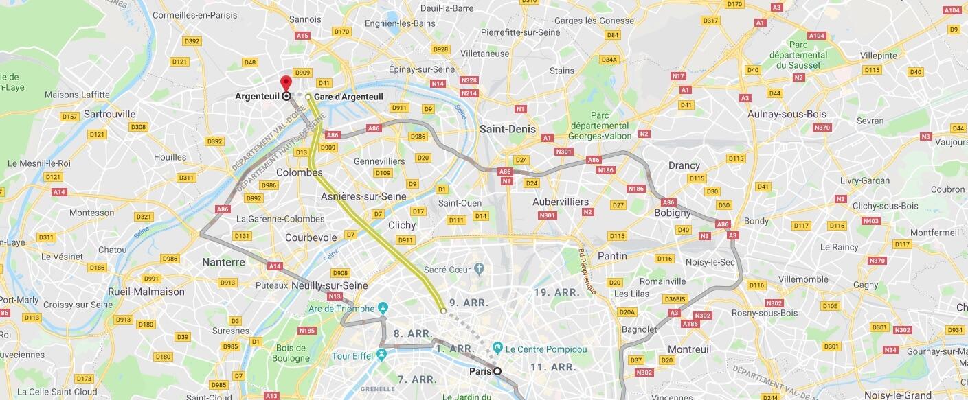 Wo liegt Argenteuil? Wo ist Argenteuil? in welchem land liegt Argenteuil