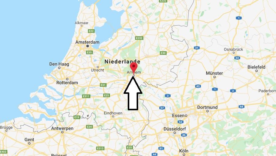 Wo liegt Arnhem? Wo ist Arnhem? in welchem land liegt Arnhem
