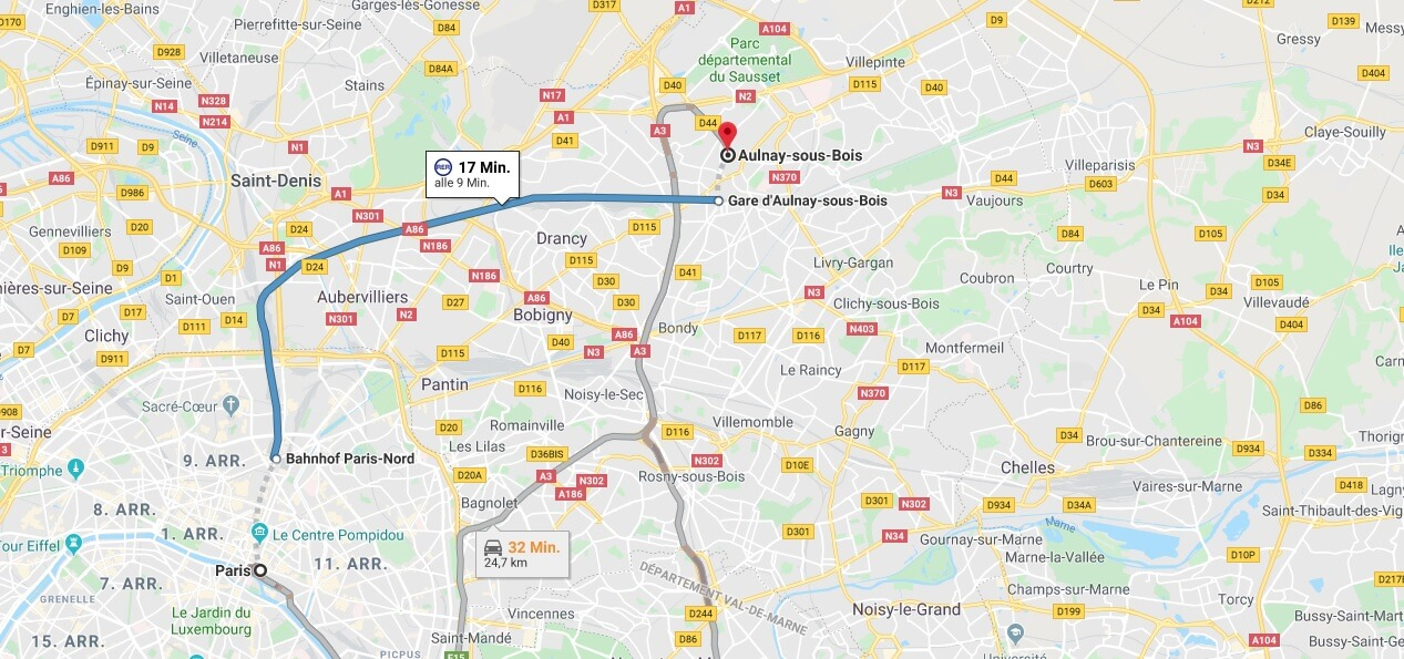 Wo liegt Aulnay-Sous-Bois? Wo ist Aulnay-Sous-Bois? in welchem land liegt Aulnay-Sous-Bois