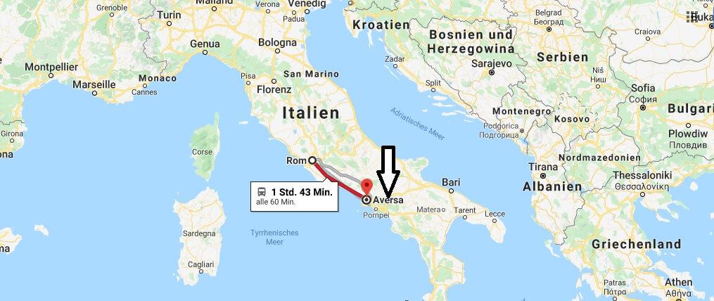 Wo liegt Aversa? Wo ist Aversa? in welchem land liegt Aversa