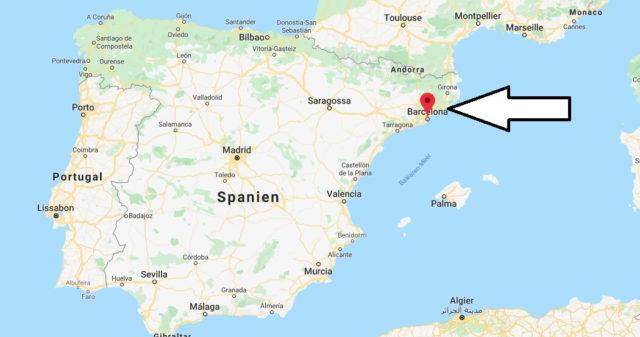 Wo liegt Barcelona? Wo ist Barcelona? in welchem land liegt Barcelona