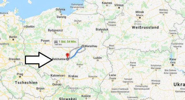 Wo liegt Bełchatów? Wo ist Bełchatów? in welchem land liegt Bełchatów