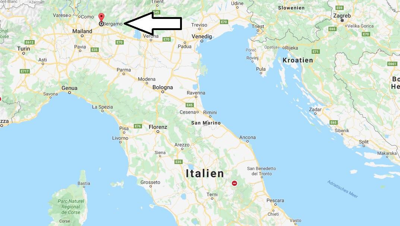 Wo liegt Bergamo? Wo ist Bergamo? in welchem land liegt Bergamo
