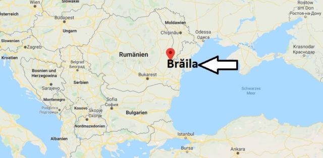 Wo liegt Brăila? Wo ist Brăila? in welchem land liegt Brăila