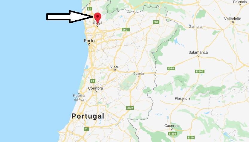 Wo liegt Braga? Wo ist Braga? in welchem land liegt Braga