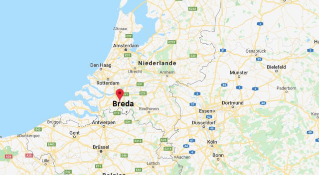 Wo liegt Breda? Wo ist Breda? in welchem land liegt Breda