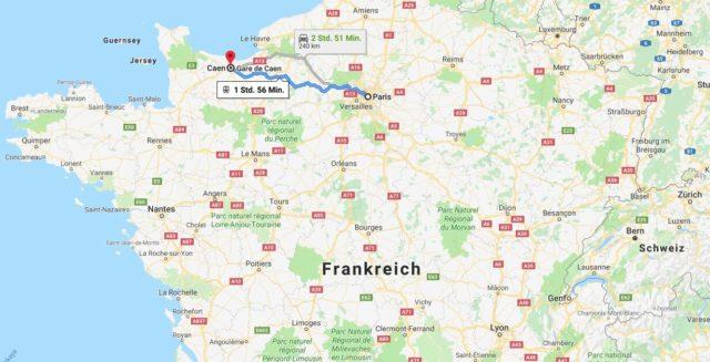 Wo liegt Caen? Wo ist Caen? in welchem land liegt Caen