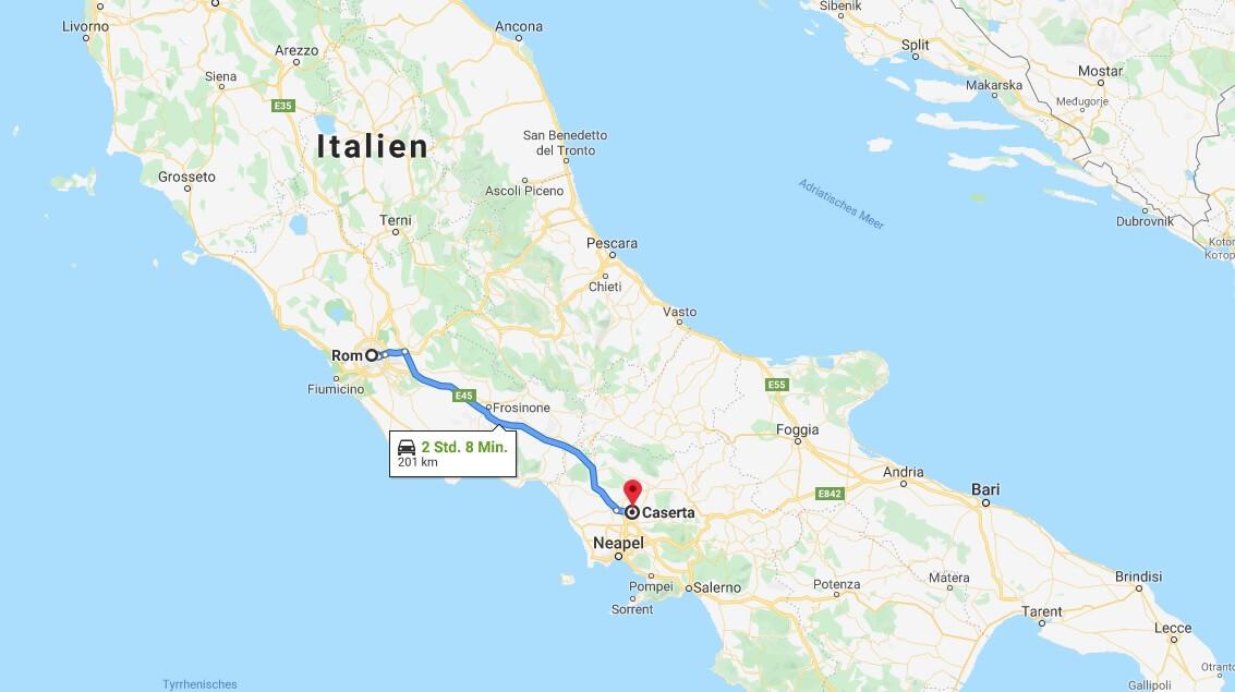 Wo liegt Caserta? Wo ist Caserta? in welchem land liegt Caserta