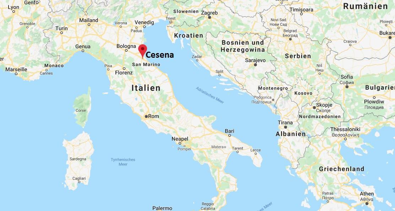 Wo liegt Cesena? Wo ist Cesena? in welchem land liegt Cesena