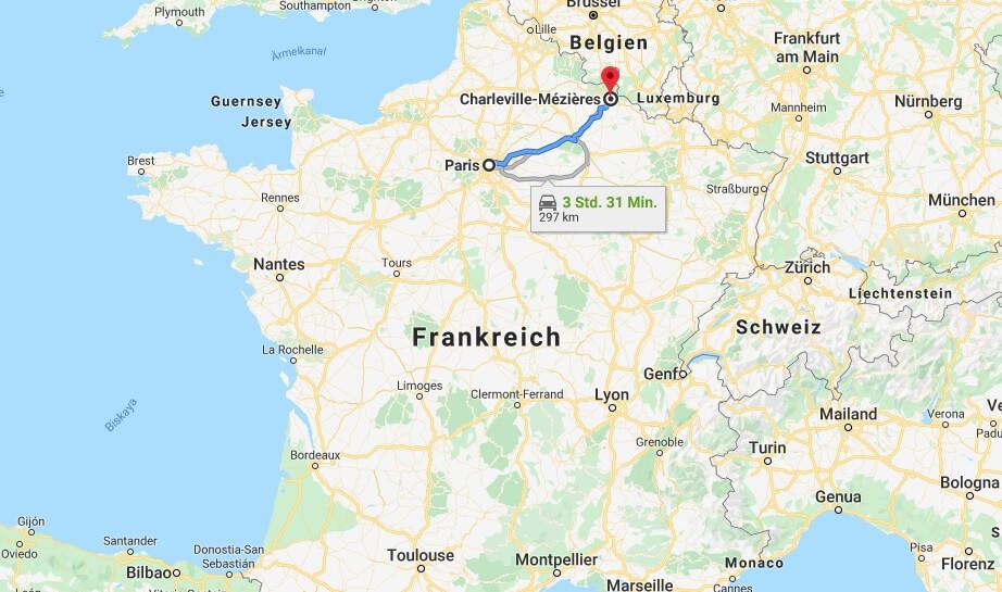 Wo liegt Charleville-Mézières? Wo ist Charleville-Mézières? in welchem land liegt Charleville-Mézières