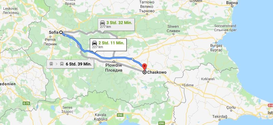 Wo liegt Chaskowo? Wo ist Chaskowo? in welchem land liegt Chaskowo
